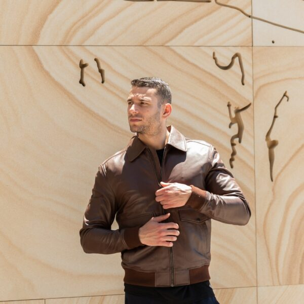Barc Leather Jacket by Triggos for men