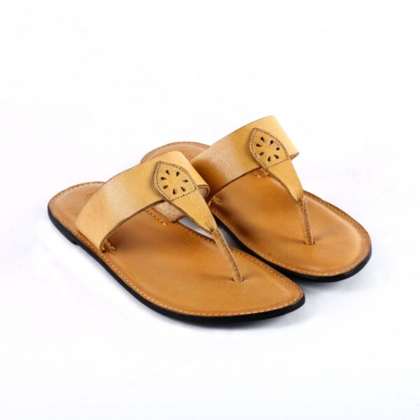 Yellow leather flats